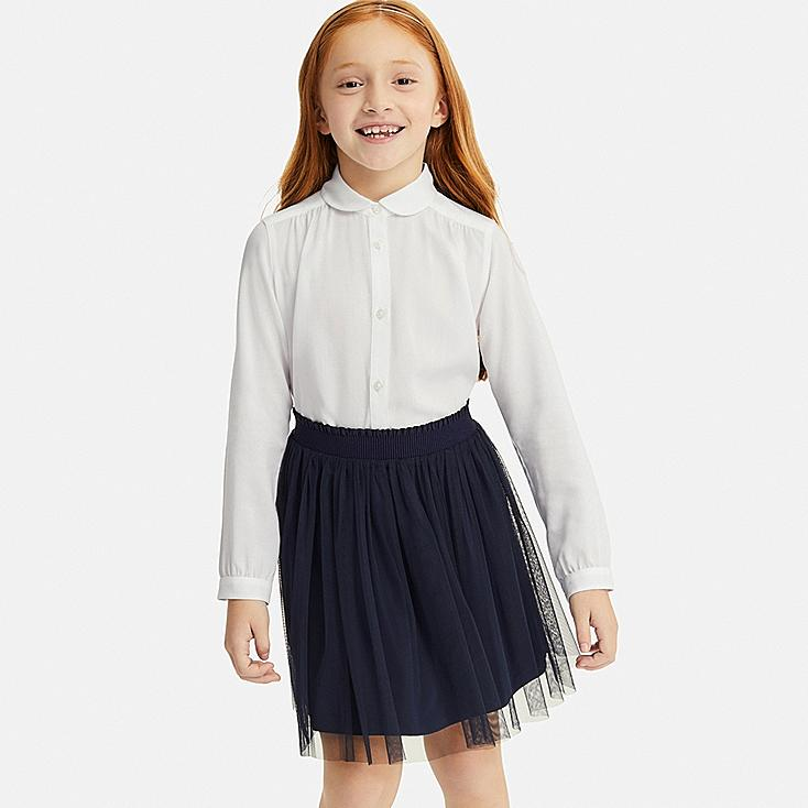 c5d0451495ecd GIRLS RAYON PETER PAN COLLAR BLOUSE