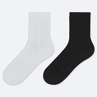 GIRLS REGULAR SOCKS (SET OF 2), WHITE, medium