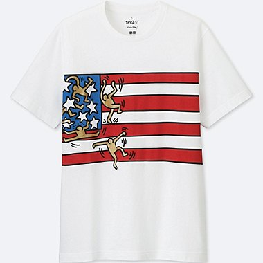 SPRZ NY SHORT-SLEEVE GRAPHIC T-SHIRT (KEITH HARING), WHITE, medium