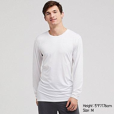 MEN AIRISM CREW NECK LONG SLEEVED T-SHIRT