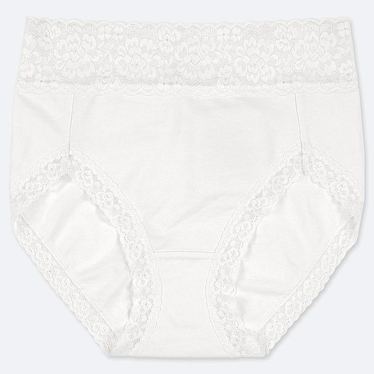 WOMEN HIGH-RISE BRIEF, WHITE, large