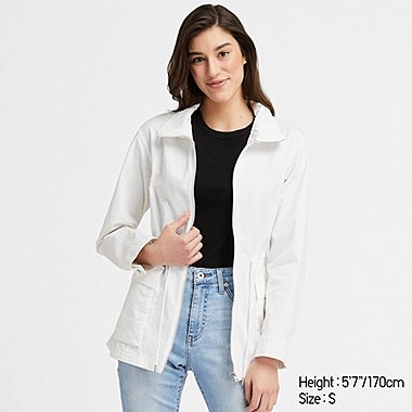 WOMEN COTTON PARKA, WHITE, medium