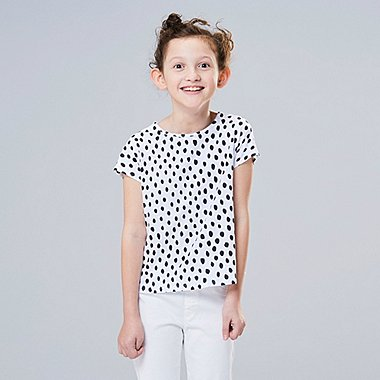 GIRLS Scandinavian UT (SHORT-SLEEVE GRAPHIC T-SHIRT), WHITE, medium