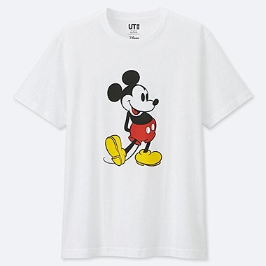 MICKEY STANDS SHORT-SLEEVE GRAPHIC T-SHIRT, WHITE, medium