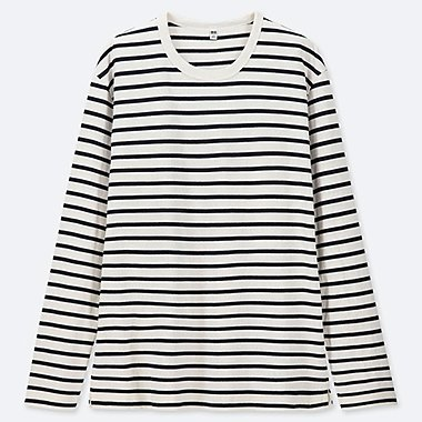 MEN WASHED STRIPED LONG-SLEEVE T-SHIRT fd028f815ef