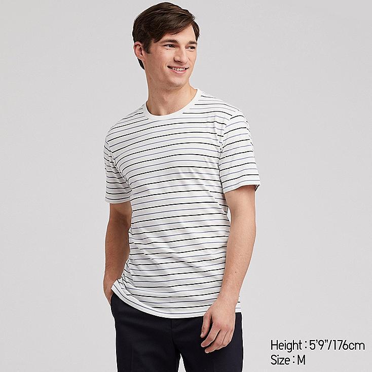 MEN SUPIMA® COTTON STRIPED SHORT-SLEEVE T-SHIRT, WHITE, large