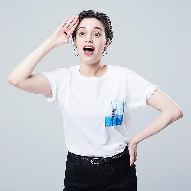 WOMEN MICKEY BLUE UT (SHORT-SLEEVE GRAPHIC T-SHIRT), WHITE, large