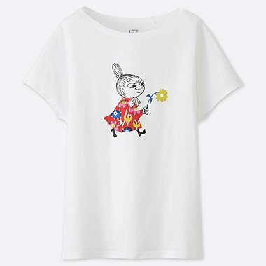 WOMEN MOOMIN SHORT SLEEVED GRAPHIC PRINT T-SHIRT
