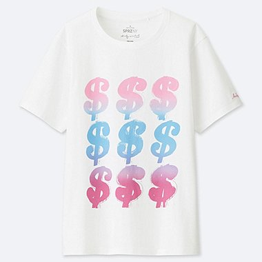 WOMEN SPRZ NY SHORT-SLEEVE GRAPHIC T-SHIRT (ANDY WARHOL), WHITE, medium