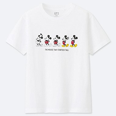 BOYS CELEBRATE MICKEY SHORT-SLEEVE GRAPHIC T-SHIRT, WHITE, medium
