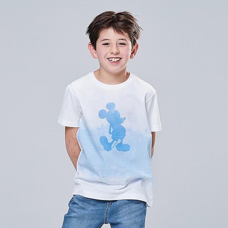 KIDS MICKEY BLUE UT (SHORT-SLEEVE GRAPHIC T-SHIRT), WHITE, large