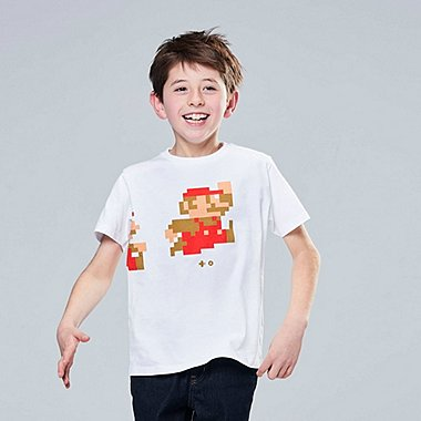KIDS SUPER MARIO UT (SHORT-SLEEVE GRAPHIC T-SHIRT), WHITE, medium