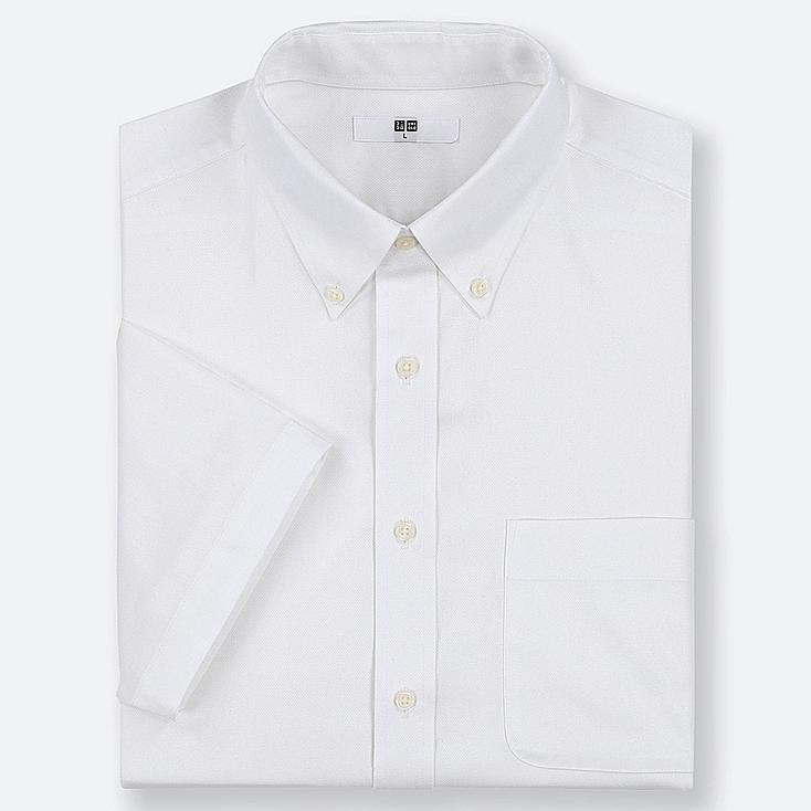 MEN DRY EASY CARE OXFORD SHORT-SLEEVE SHIRT (ONLINE EXCLUSIVE), WHITE, large