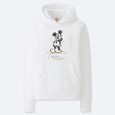 WOMEN CELEBRATE MICKEY GRAPHIC HOODED SWEATSHIRT, WHITE, medium