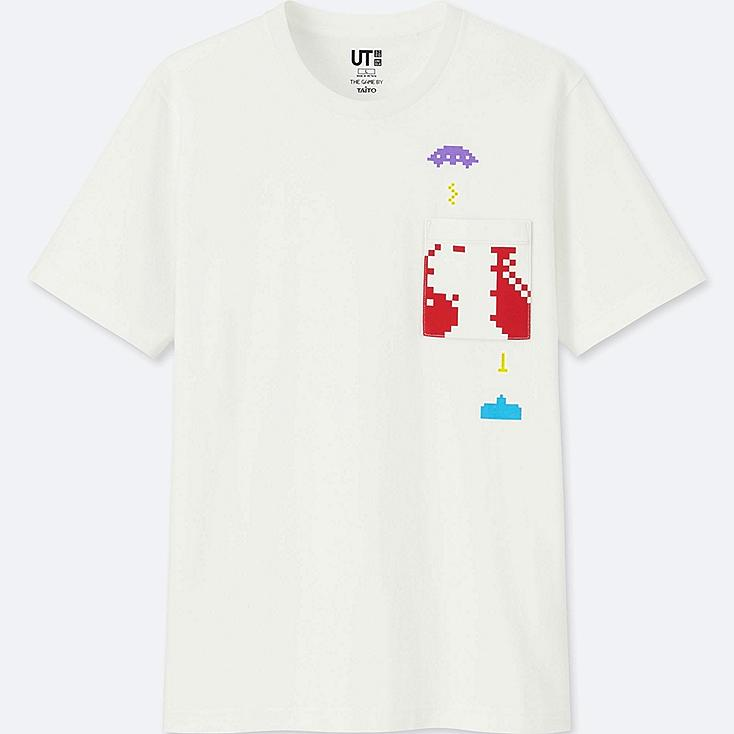 THE GAME BY TAITO UT SPACE INVADERS (SHORT-SLEEVE GRAPHIC T-SHIRT), WHITE, large