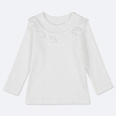 TODDLER CREW NECK LONG-SLEEVE T-SHIRT, WHITE, medium