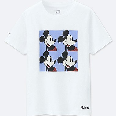 KIDS MICKEY ART SHORT-SLEEVE GRAPHIC T-SHIRT (ANDY WARHOL), WHITE, medium