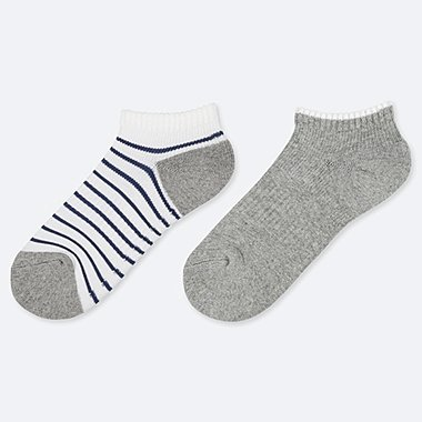 BOYS SHORT SOCKS (SET OF 2), WHITE, medium