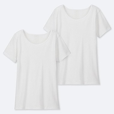 KIDS COTTON INNER U-NECK (SET OF 2), WHITE, medium