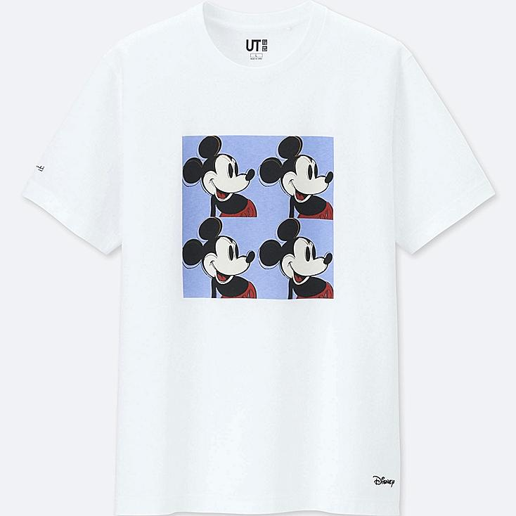 MICKEY ART SHORT-SLEEVE GRAPHIC T-SHIRT (ANDY WARHOL), WHITE, large