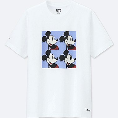 MICKEY ART SHORT-SLEEVE GRAPHIC T-SHIRT (ANDY WARHOL), WHITE, medium