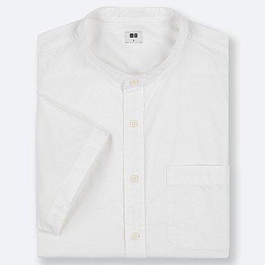 MEN EXTRA FINE COTTON SHORT-SLEEVE SHIRT, WHITE, medium