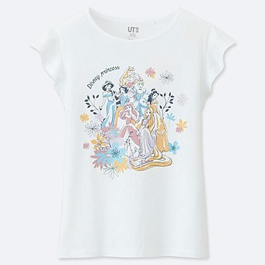 GIRLS DISNEY BLOSSOMING DREAMS GRAPHIC PRINT T-SHIRT