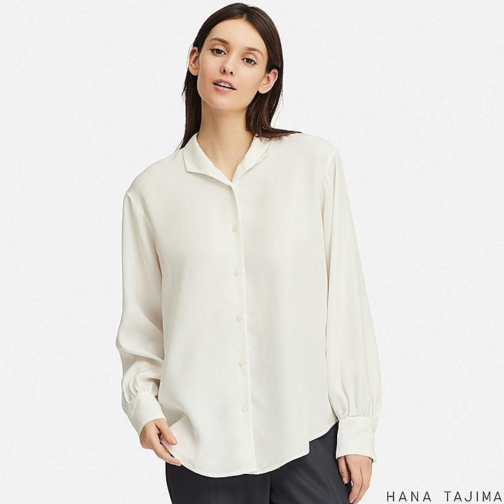 women rayon oversize long-sleeve shirt