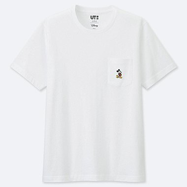 MICKEY STANDS SHORT-SLEEVE POCKET T-SHIRT, WHITE, medium