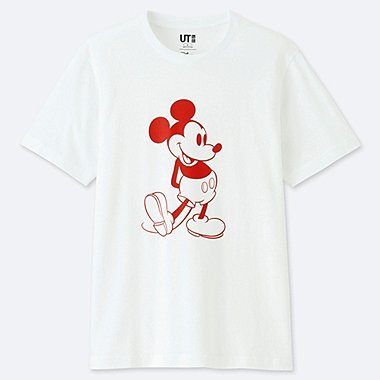 MEN MICKEY STANDS SHORT-SLEEVE GRAPHIC T-SHIRT, WHITE, medium