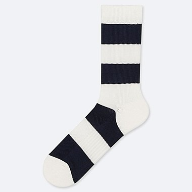 MEN PILE STRIPED SOCKS