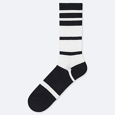 MEN PILE RIBBED STRIPED SOCKS