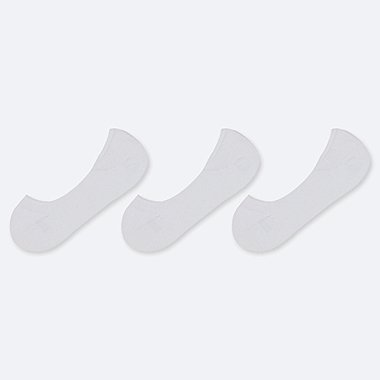 WOMEN LOW-CUT FOOTSIES (3 PAIRS), WHITE, medium
