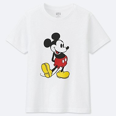 KIDS MICKEY STANDS GRAPHIC PRINT T-SHIRT