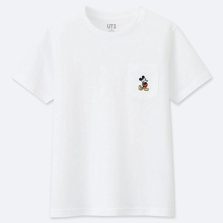 KIDS MICKEY STANDS SHORT-SLEEVE POCKET T-SHIRT, WHITE, large