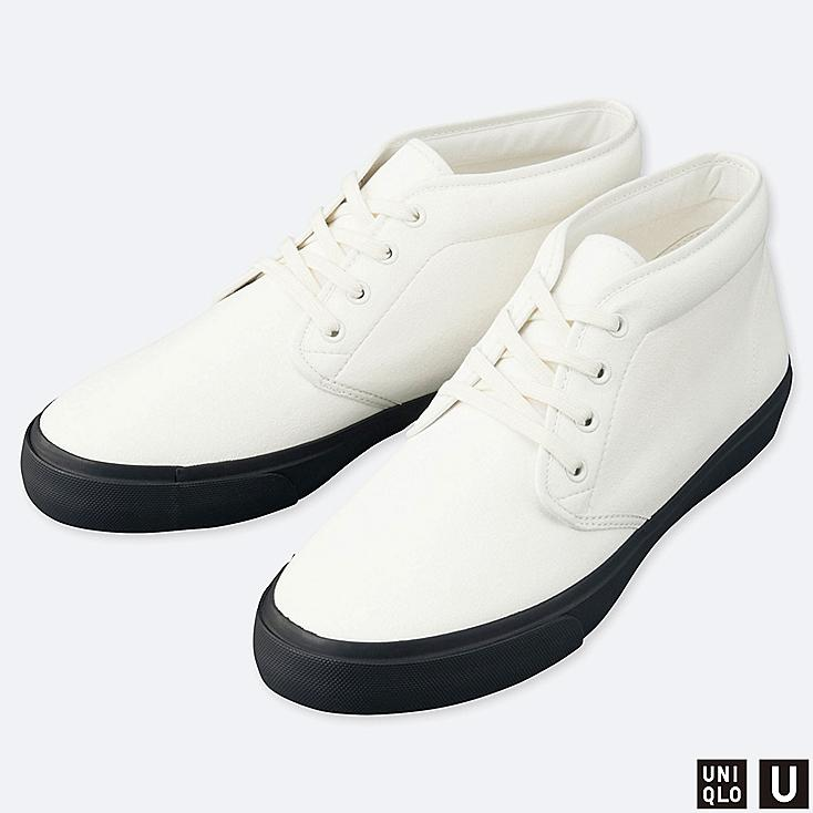 U CHUKKA SNEAKERS, WHITE, large