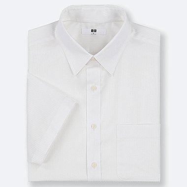 MEN DRY EASY CARE DOBBY SHORT-SLEEVE SHIRT (ONLINE EXCLUSIVE), WHITE, medium