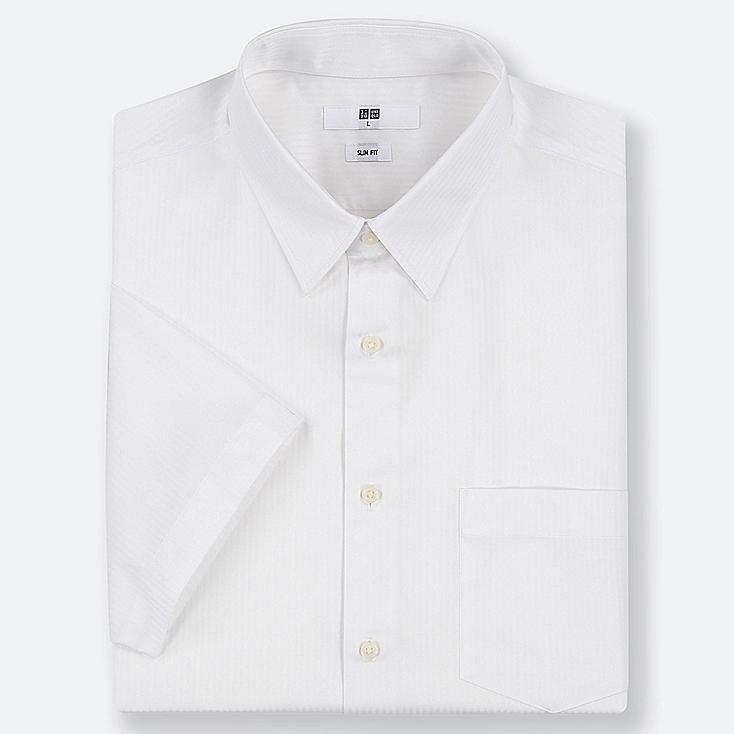 MEN DRY EASY CARE SLIM-FIT SHORT-SLEEVE SHIRT (ONLINE EXCLUSIVE), WHITE, large