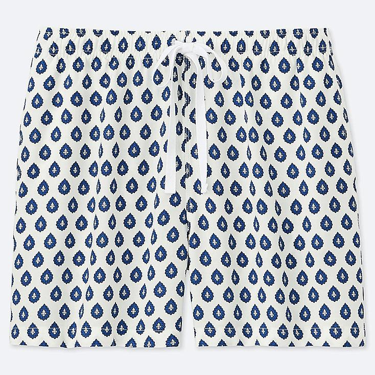 WOMEN PROVENCE PRINTED RELACO SHORTS, WHITE, large