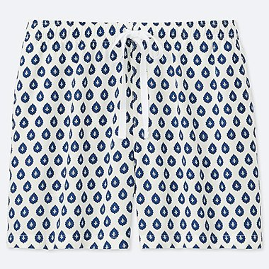 WOMEN PROVENCE PRINTED RELACO SHORTS, WHITE, medium