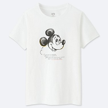 WOMEN CELEBRATE MICKEY SHORT-SLEEVE GRAPHIC T-SHIRT, WHITE, medium
