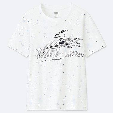 WOMEN PEANUTS SHORT-SLEEVE GRAPHIC T-SHIRT, WHITE, medium