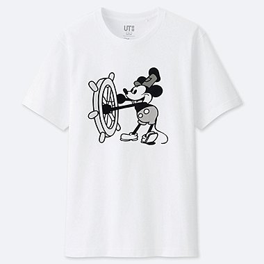 MEN CELEBRATE MICKEY SHORT-SLEEVE GRAPHIC T-SHIRT, WHITE, medium