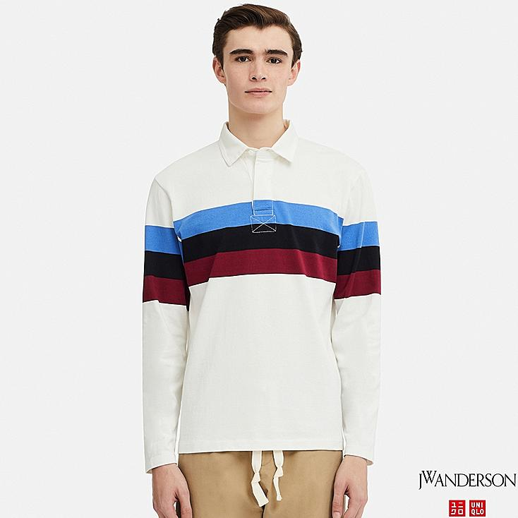 MEN LONG-SLEEVE RUGGER SHIRT (JW Anderson), WHITE, large
