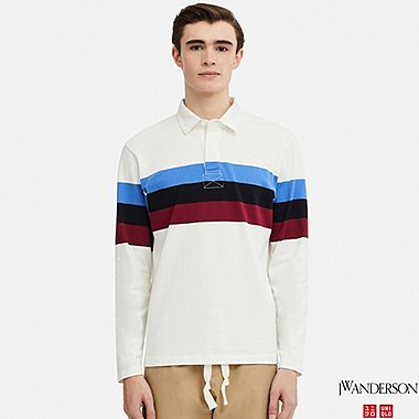 MEN LONG-SLEEVE RUGGER SHIRT (JW Anderson), WHITE, medium