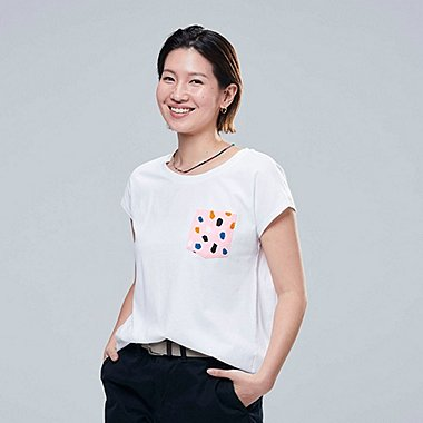 WOMEN SUPERGEOMETRIC DUSEN DUSEN GRAPHIC PRINT T-SHIRT