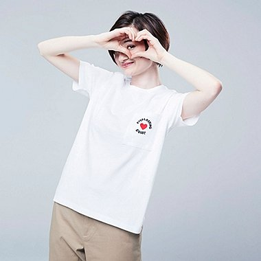 WOMEN Miranda July SHORT-SLEEVE GRAPHIC T-SHIRT, WHITE, medium