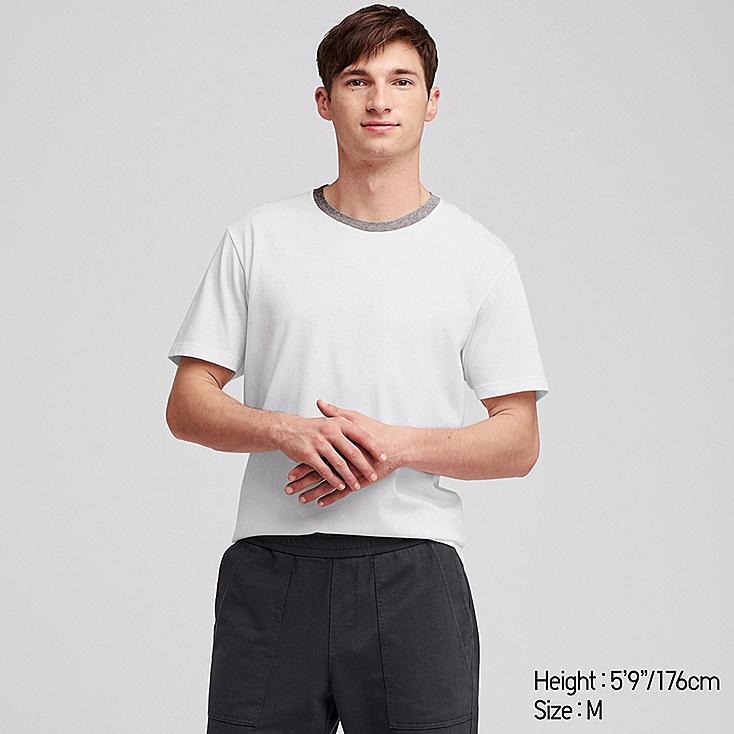 MEN PACKAGED DRY CREW NECK SHORT-SLEEVE T-SHIRT, WHITE, large