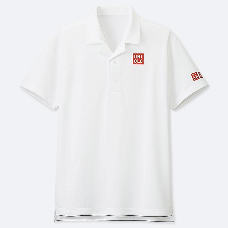 MEN DRY-EX POLO SHIRT (ROGER FEDERER 19AUS), WHITE, large