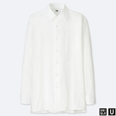 MEN UNIQLO U SUPIMA COTTON JERSEY SHIRT (REGULAR COLLAR)